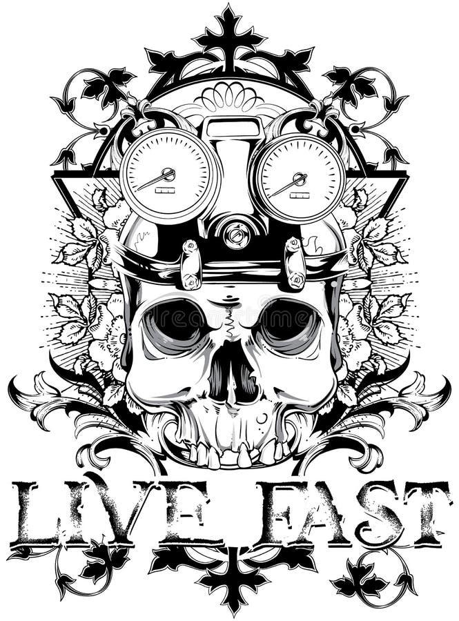Live fast stock illustration
