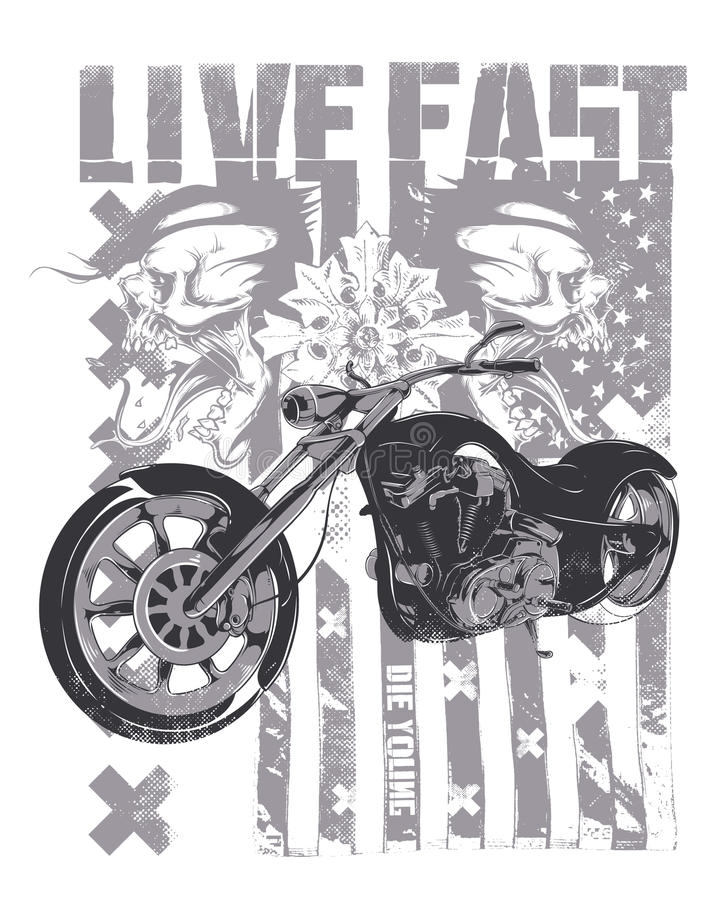 Live Fast vector illustration