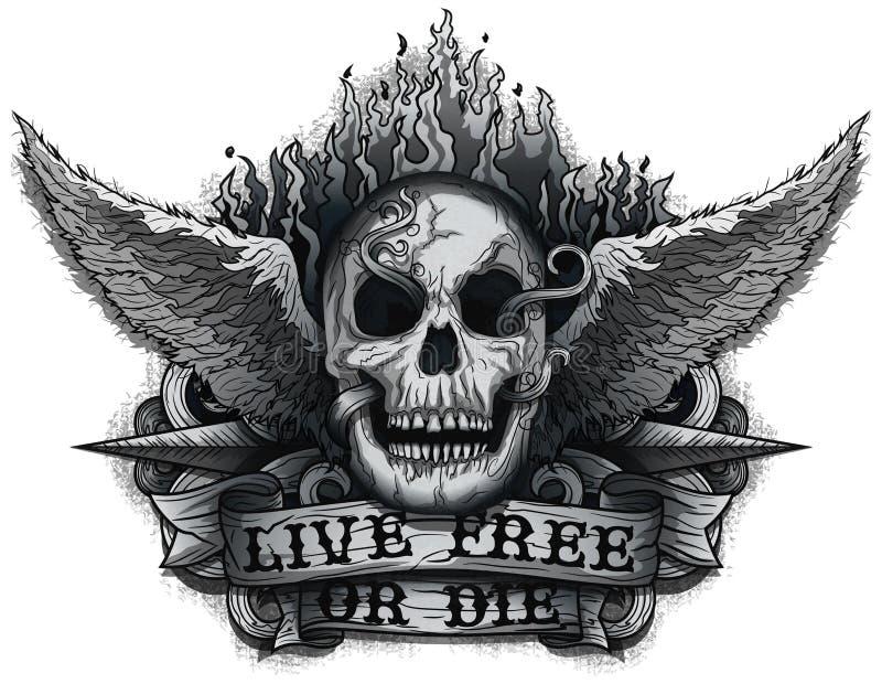 Live Free of Matrijs stock illustratie