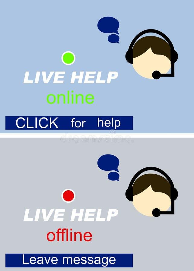 Live Help Sign stock illustration