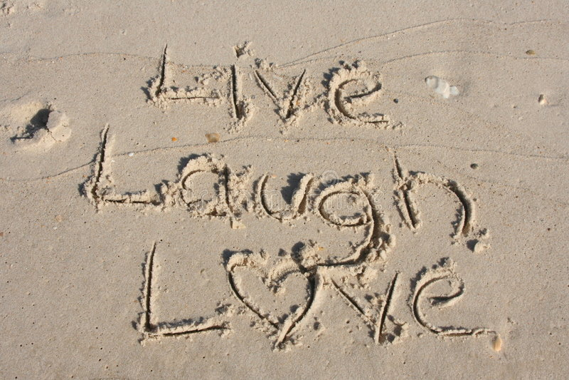 Live Laugh Love stock image