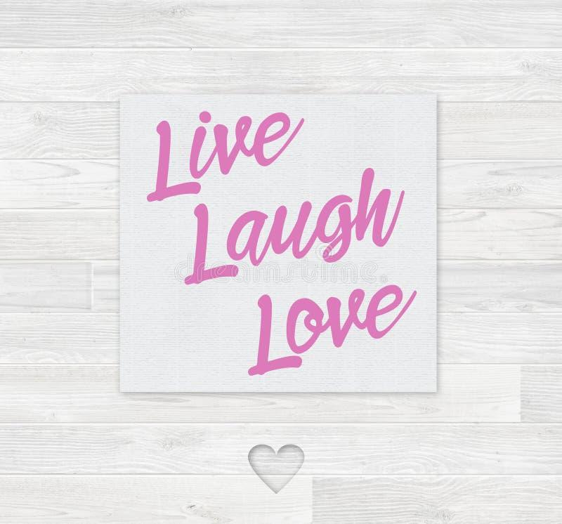 Live Laugh Love Card photos libres de droits