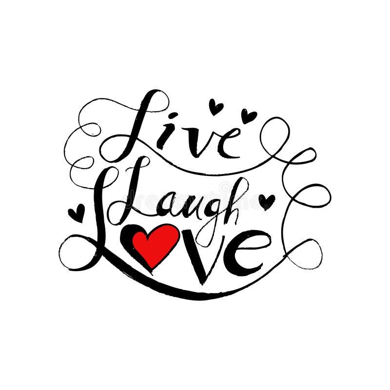 Live laugh love stock illustration