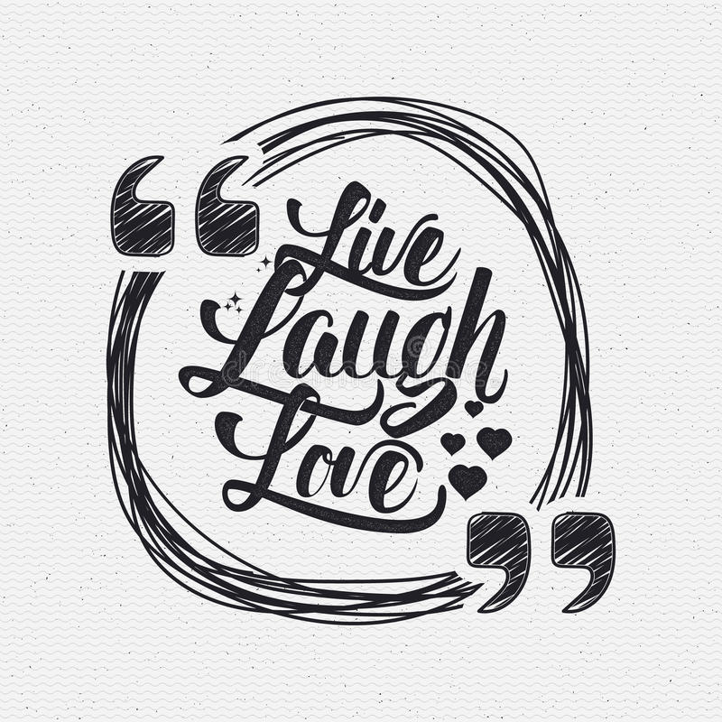 Live Laugh Love Hand Lettering Quote Stock Illustration ...