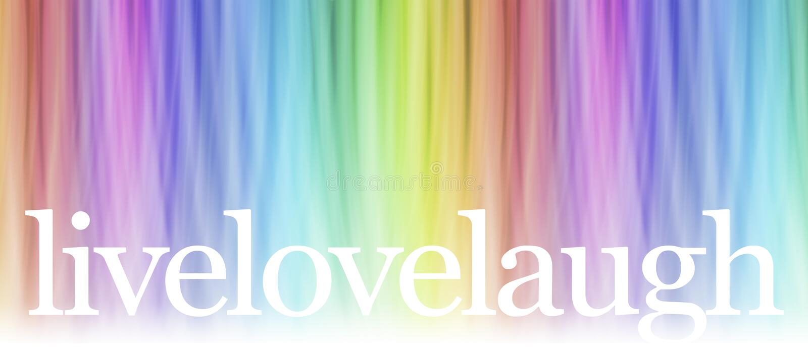Live Laugh Love Message Banner stock photo