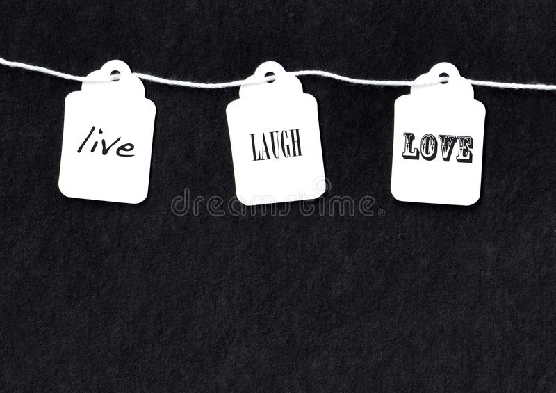 Live laugh love stock photography