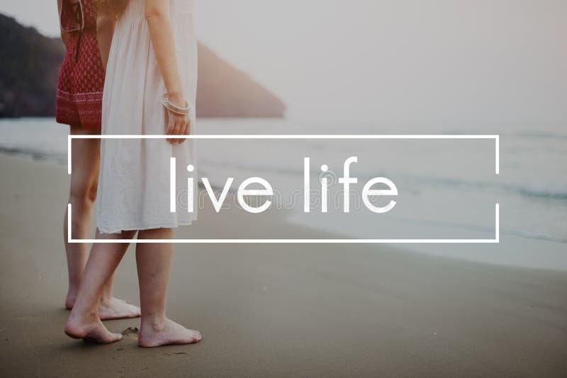 Live Life Alive Balance Enjoy Vital Harmony Home Concept fotografia stock