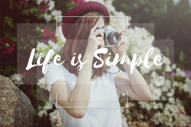 Live Life Hobby Photographer Lifestyle-Concept royalty-vrije stock fotografie