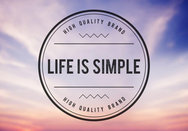 Live Lifestyle Life Alive Balance Concept.  royalty free illustration