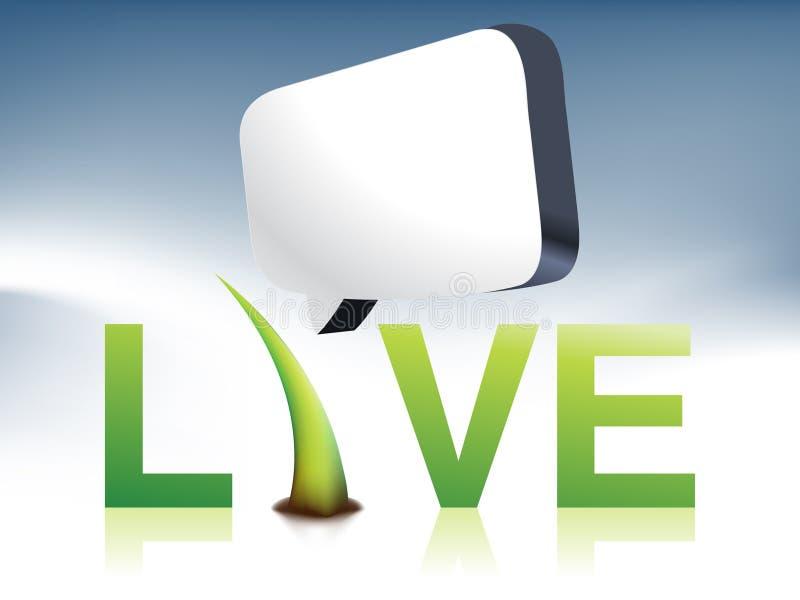 live logo vektor illustrationer