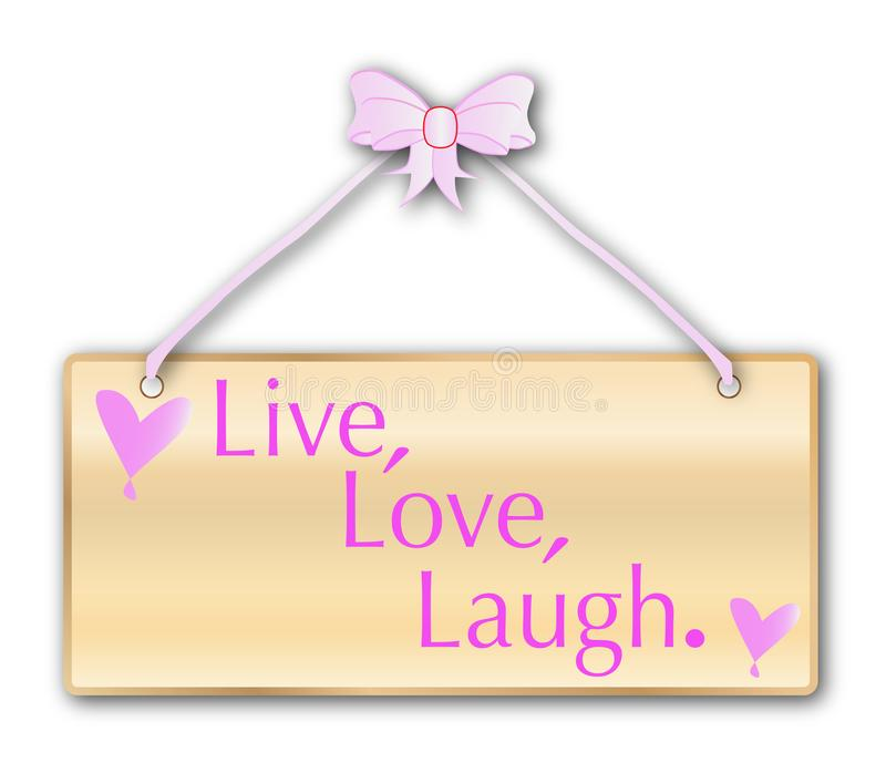 Live Love Laugh Isolated Sign illustration stock