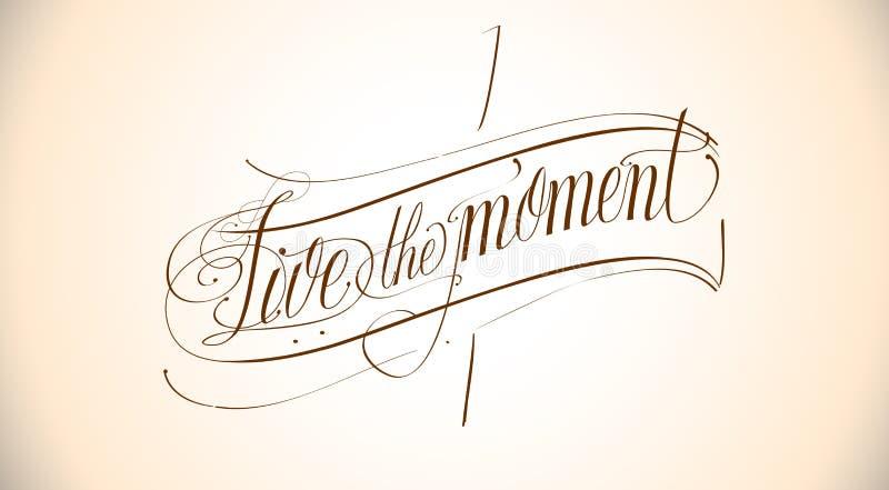 Live the moment stock illustration