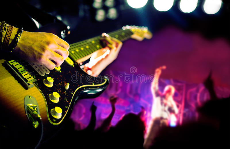 Live music background stock photo