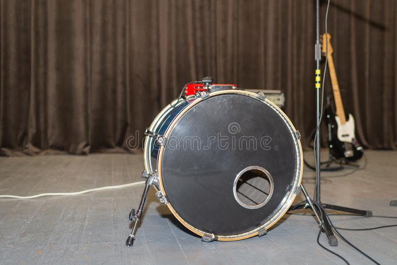 Live music background. A nice Drum on a stage royalty free stock photography