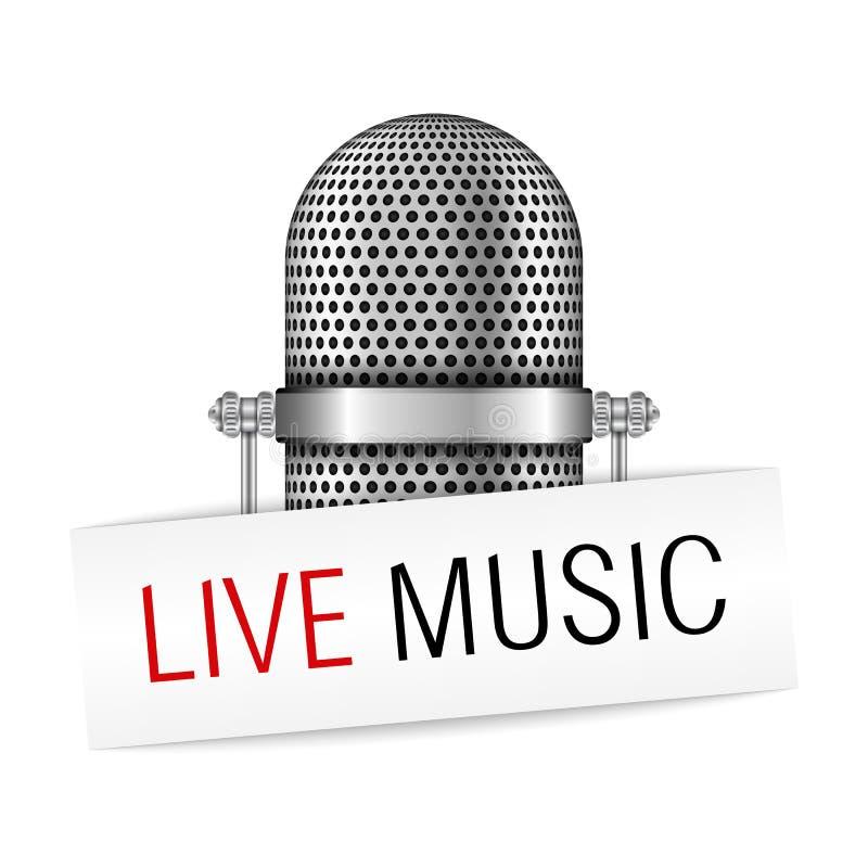 Live Music Banner ilustração stock