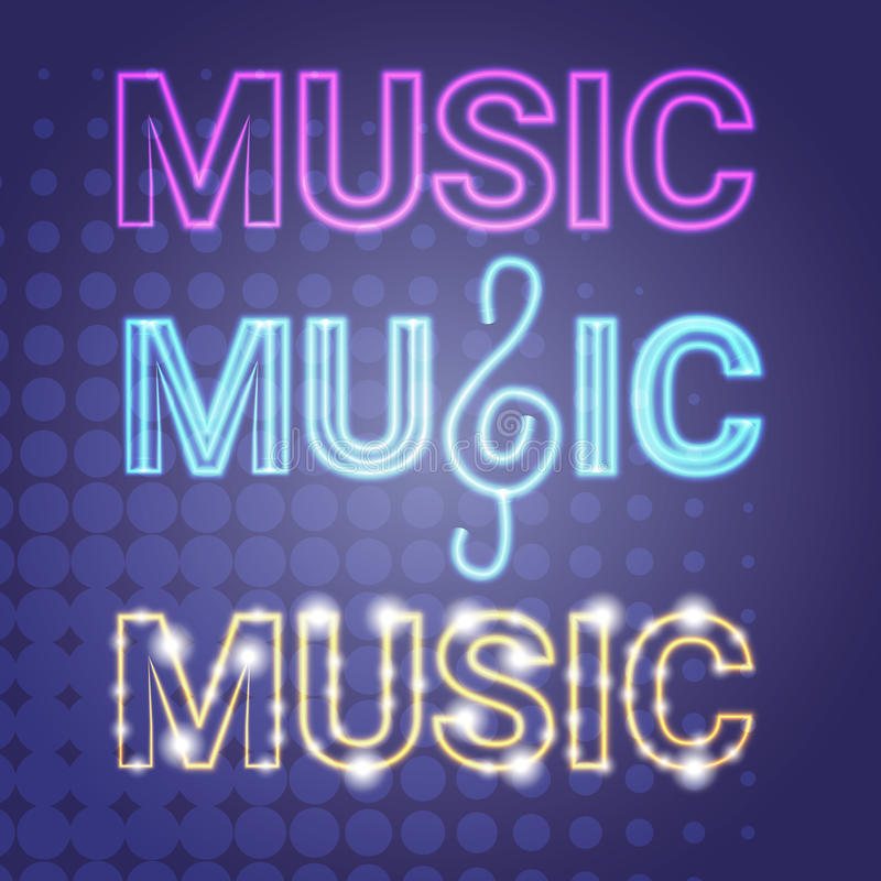 Live Music Concert Banner Colorful Style Modern Musical Poster royalty free illustration