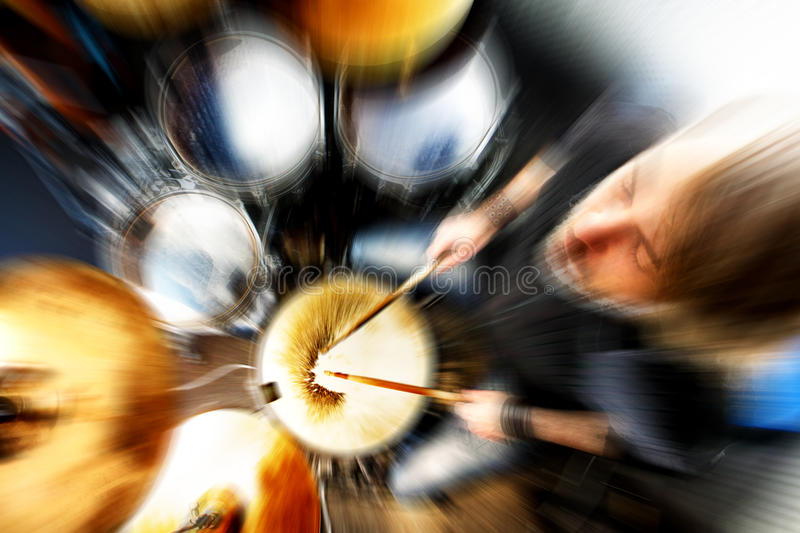 Live music and drummer.Music,abstract concept royalty free stock photos