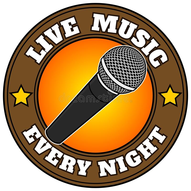 Live Music Every Night royalty free illustration