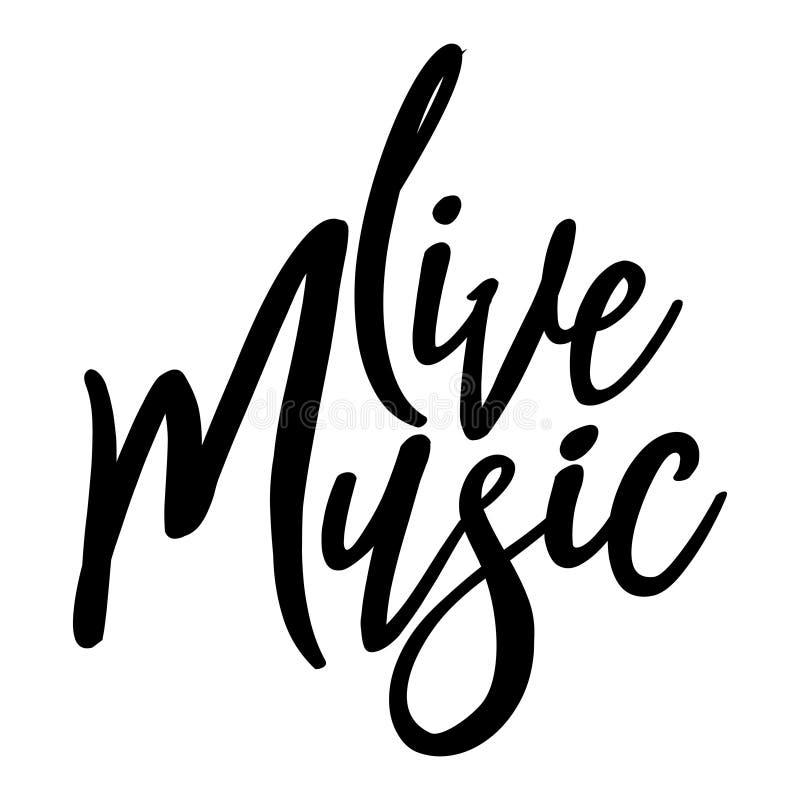 Live music stock illustration