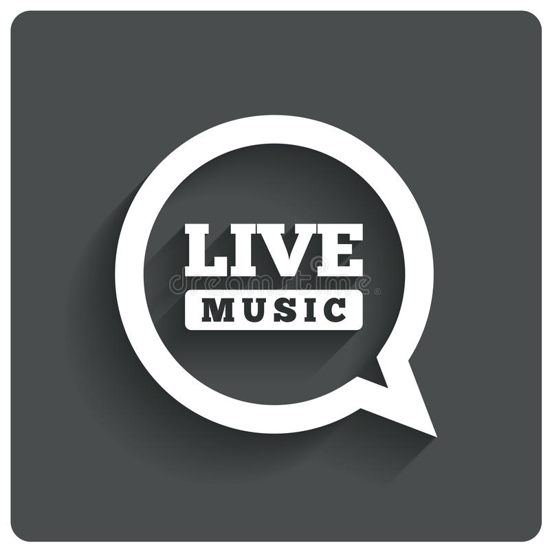 Live music icon. Speech bubble label. Karaoke. royalty free illustration