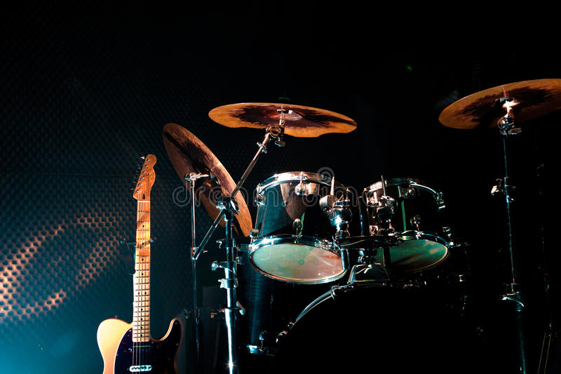 Live music and instruments royalty free stock photos