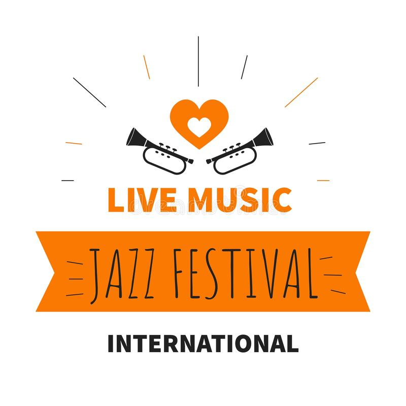 Live music jazz festival isolated icon trumpet musical instrument vector illustration
