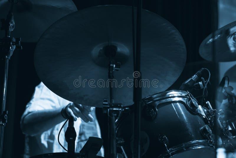 Live music photo, drum set royalty free stock photo