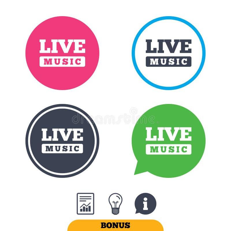 Live music sign icon. Karaoke symbol. stock illustration