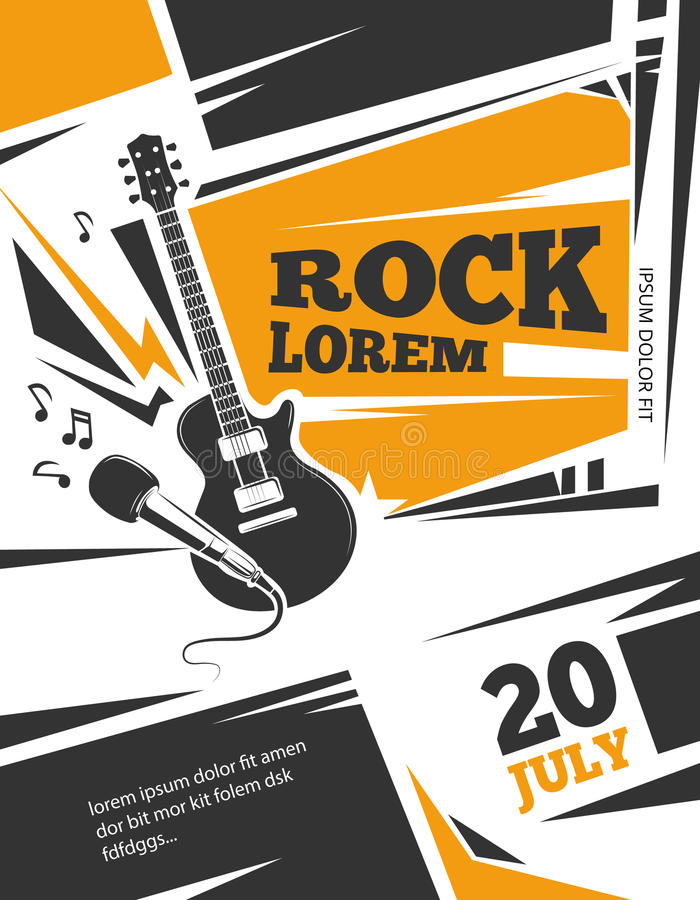 Live music vector poster template vector illustration