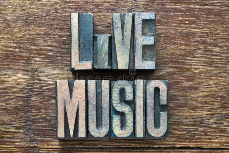 Live music wood stock photography