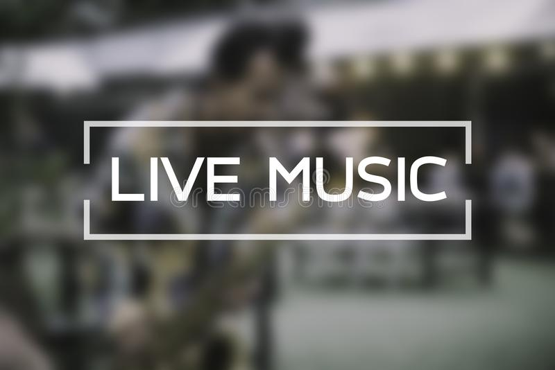 Live music working on blur musician play on street. royalty free stock photography