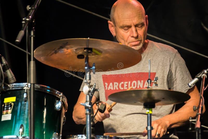 Live-Musik der Band Alexandrina Simeon Quintett auf dem Jazz Festival in Regensburg lizenzfreie stockfotografie