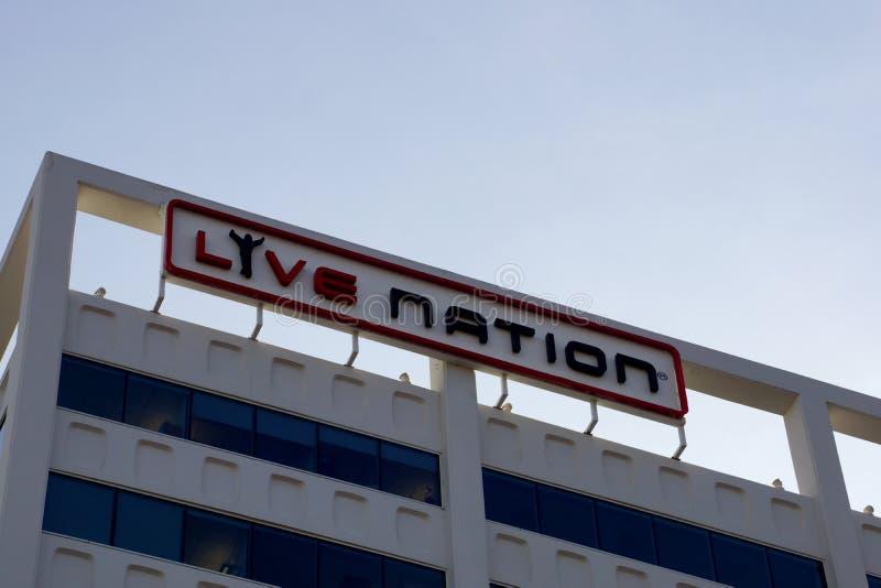 Live Nation - Teken stock afbeeldingen