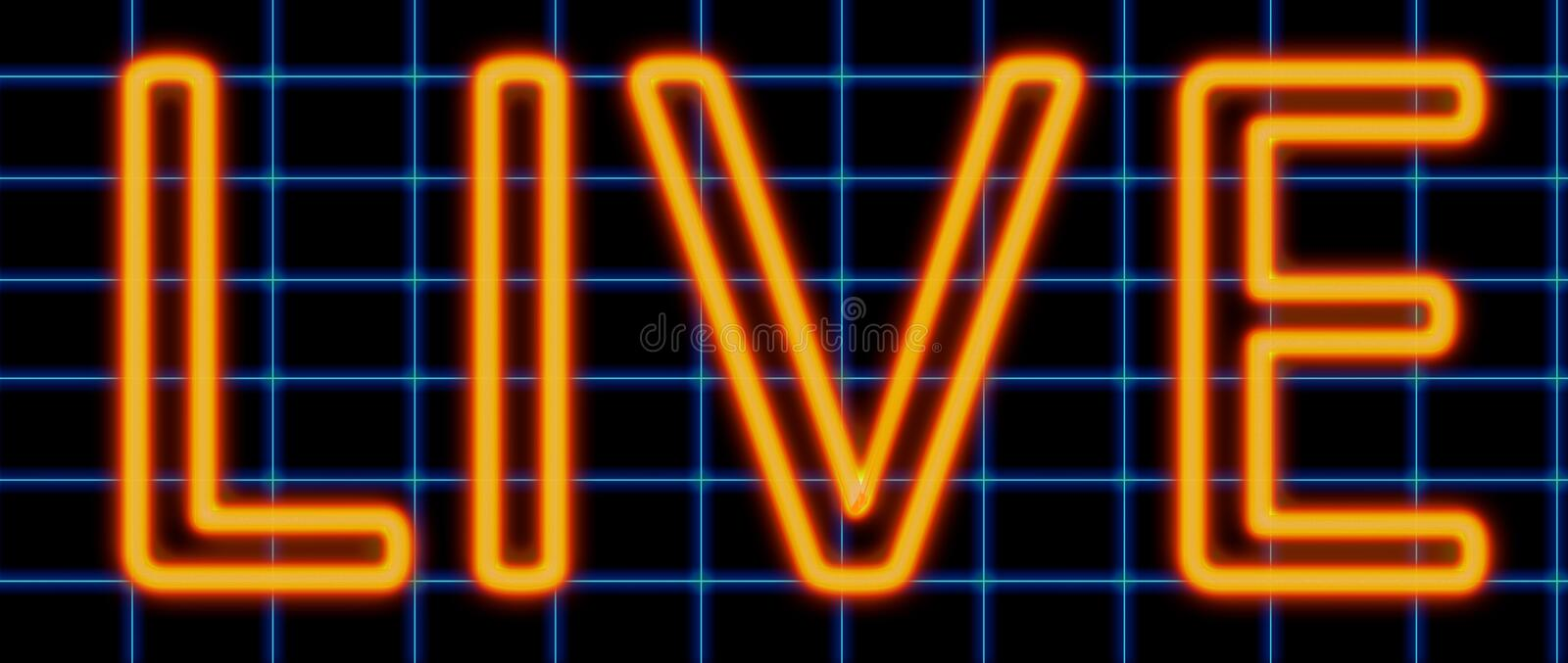 Live neon sign royalty free illustration