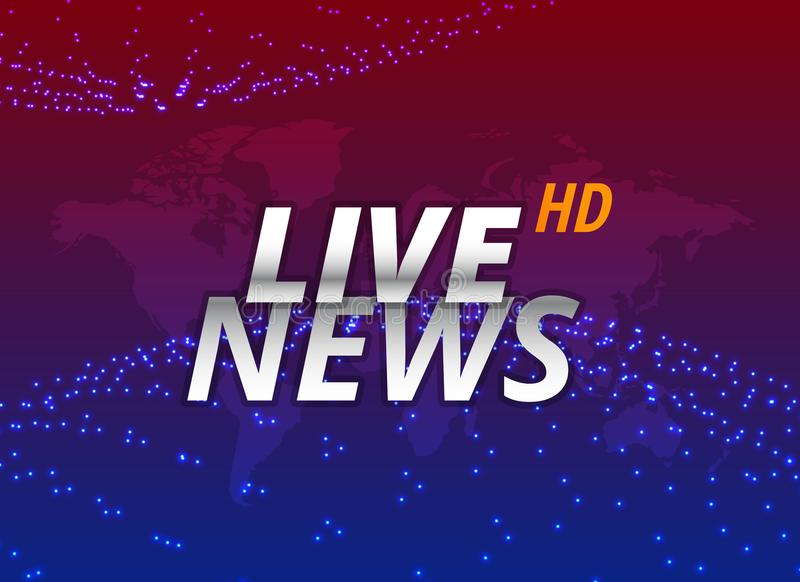 Live news background concept design stock illustration