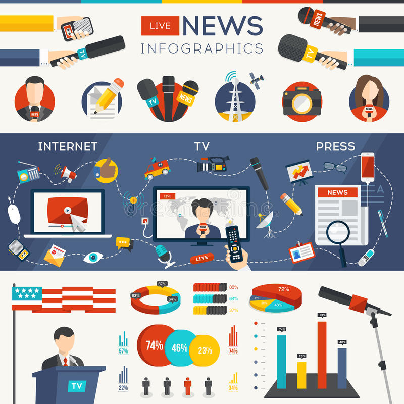 Live News Infographics libre illustration