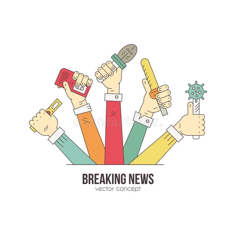 Live News Logo stock illustratie