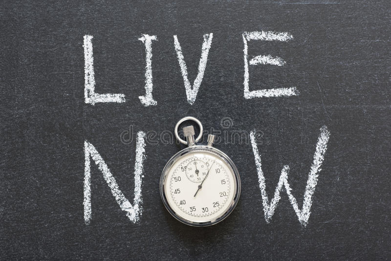Live now royalty free stock images