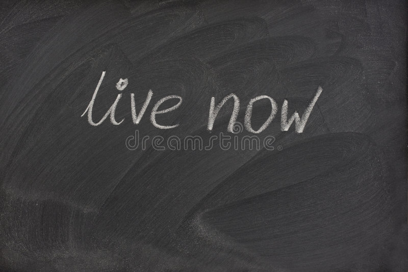 Download Live Now Phrase On Blackboard Stock Photo - Image: 8697514