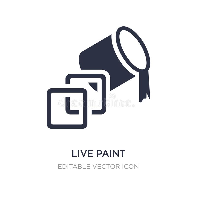 live paint icon on white background. Simple element illustration from General concept royalty free illustration
