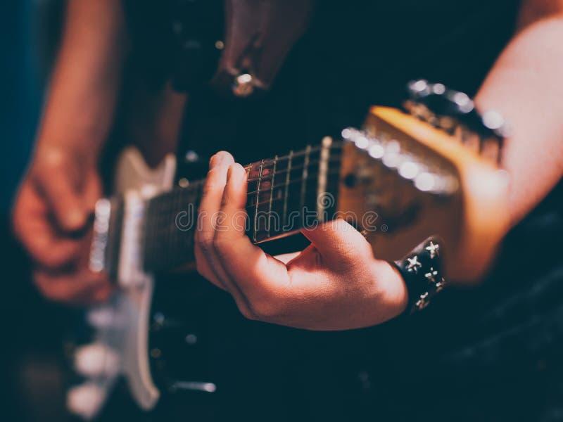 Live rock concert punk musician electric guitar stock photos