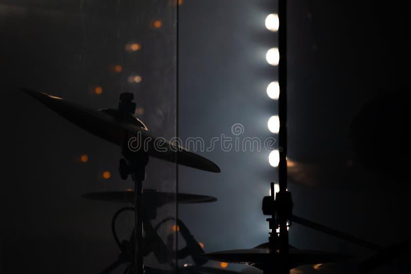Live rock music, dark photo background stock image