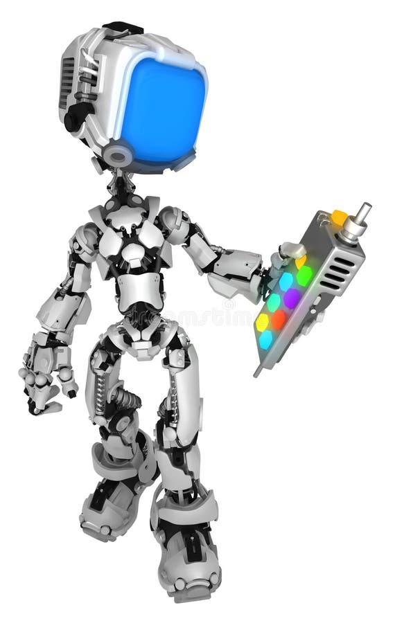 Live Screen Robot, Afstandsbediening stock illustratie
