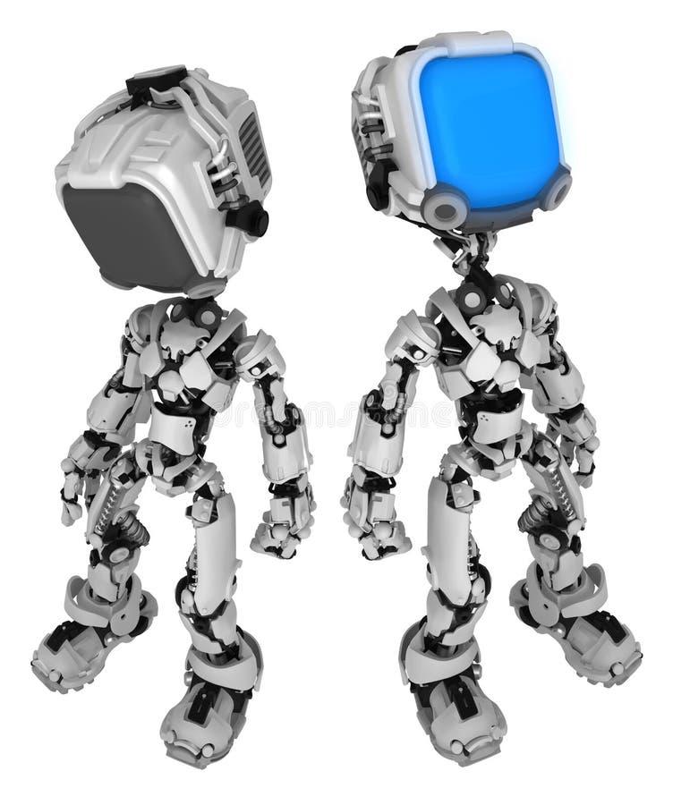 Live Screen Robot aktiverar vektor illustrationer