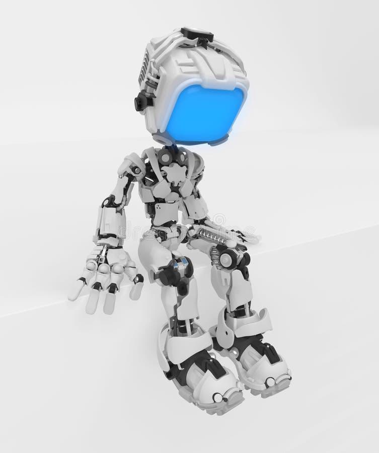 Live Screen Robot avsats vektor illustrationer