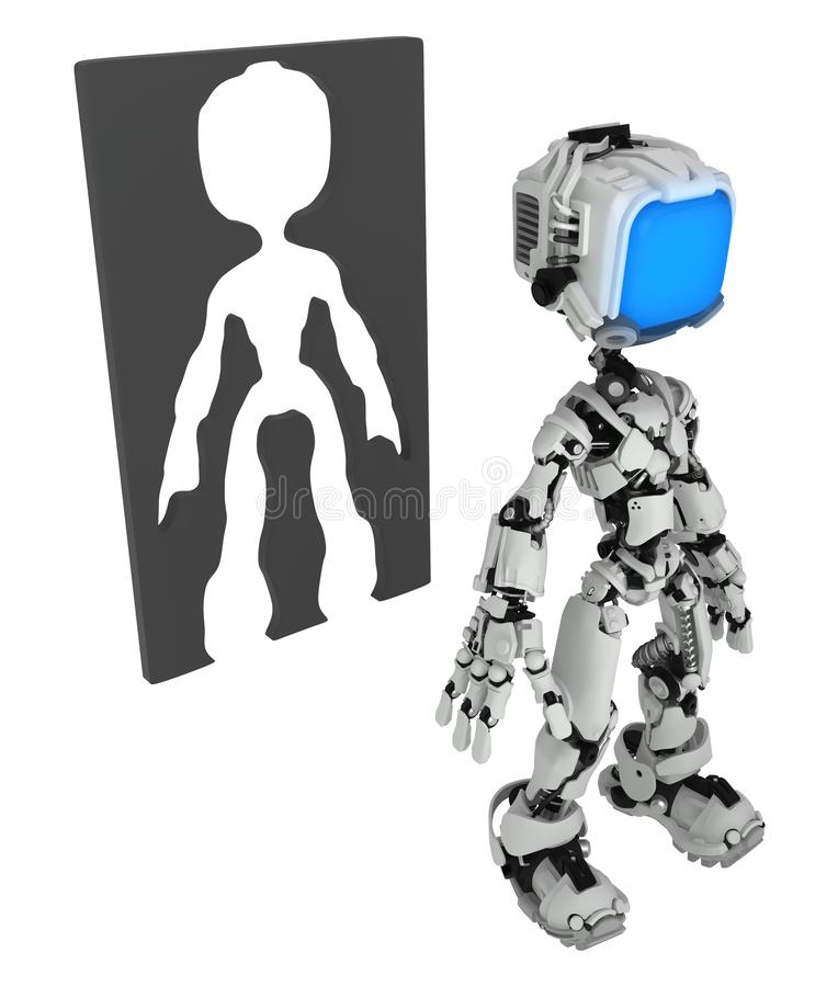 Live Screen Robot, cadre de silhouette photos stock