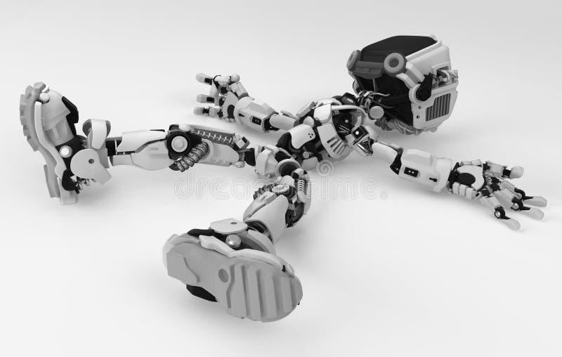 Live Screen Robot, caido ilustración del vector