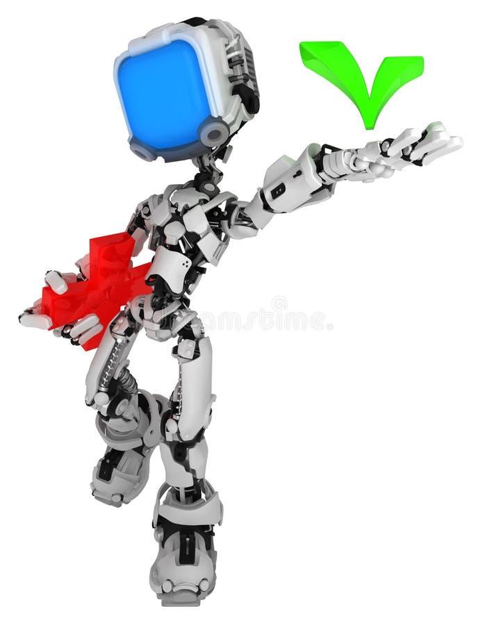 Live Screen Robot, coche illustration stock
