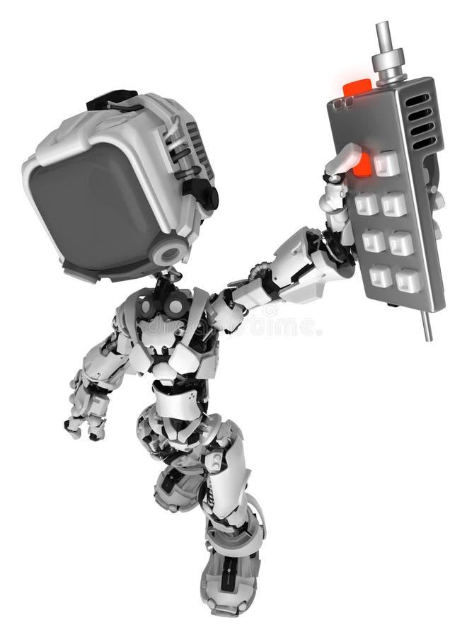 Live Screen Robot, Fernsteuerungs weg stock abbildung