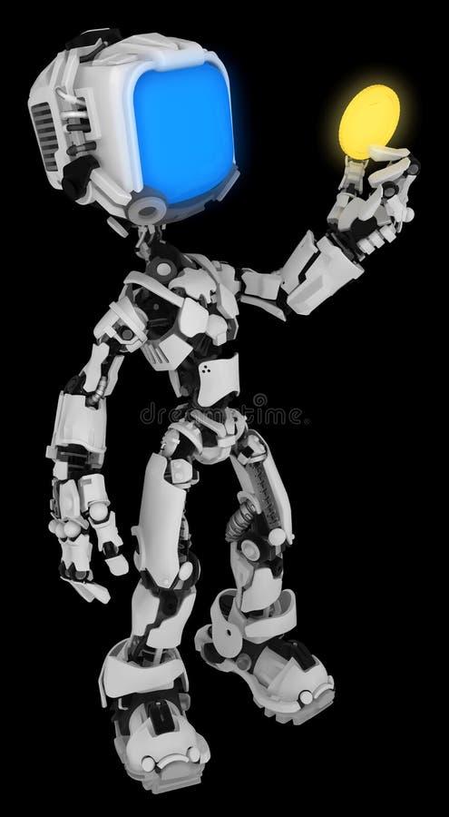 Live Screen Robot, Gouden Muntstuk vector illustratie